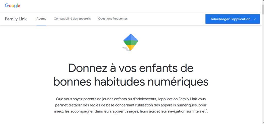 L'application Family Link